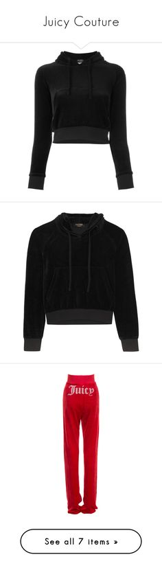 """""""Juicy Couture"""" by backupoffmee ❤ liked on Polyvore featuring tops, crop top, shirts, hoodies, jackets, shirt hoodies, logo shirts, hoodie crop top, hoodie shirt and long sleeve sports shirts"""