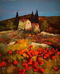 41x33CM PROVENCE 6F Provence, Pastel, Artwork, Summer, Painting, Image, Landscapes, Ideas, Paisajes