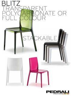 Mobilier hôtellerie restauration : chaise empilable Blitz