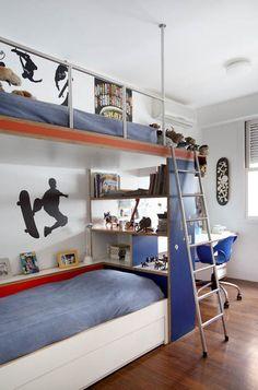 hochbett f r kinderzimmer mit schubladen leiter einrichtungsideen geschwister zimmer haus. Black Bedroom Furniture Sets. Home Design Ideas