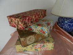 LOT DE 4 Boites Anciennes Recouvertes DE Tissu Pour Déco Utilis Voir 12PH   eBay