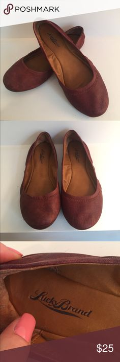 Lucky Brand Ballet Flats Adorably comfy Lucky Brand leather ballet flats. Barely worn! Size 6 1/2. Always happy to receive reasonable offers Lucky Brand Shoes Flats & Loafers
