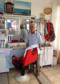 Barber shop at Yalıkavak, Bodrum, Turkey.