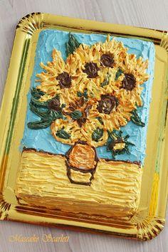 TARTA VAN GOGH CAKE GIRASOLES SUNFLOWERS For nanny's birthday