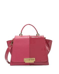 Eartha+Contrast+Textured+Flap-Top+Satchel+Bag,+Orchid+by+Z+Spoke+Zac+Posen+at+Neiman+Marcus.