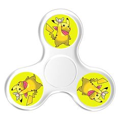 Cheap price JOIEM Pikachu Pokemon Tri Fidget Hand Spinner Stress Reducer Toy For Kids Students And Adult on sale