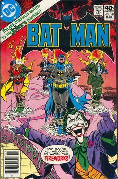 Batman #321, March 1980, cover by Jose Luis Garcia-Lopez - Joker  Yeah, not disturbing at all