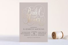 blush and gold bridal shower invite | Minted's semi-annual FREE foil event!  Custom photo thank you cards, save the dates, wedding invitations and more.