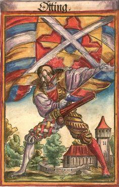 "Oettingen [Ötting.] (f°132) -- Koebel, Jacob, ""Wapen des heyligen römischen Reichs teutscher Nation"", Franckfurth am Main, 1545 [BSB Ms. Rar. 2155]"