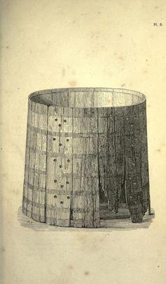 """Bucket from Mammen. I.A.A. Worsaae """"Om Mammen-Fundet"""" in Aarboger for Nordisk Oldkyndighed og Historie. 1869. Plate 9"""