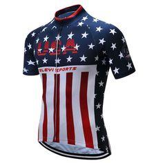 America Flag Summer Cycling Jersey Shirt f9fd6e7de