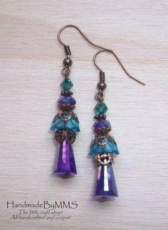 Crystal earrings Statement earrings Earrings for by HandmadeByMMS