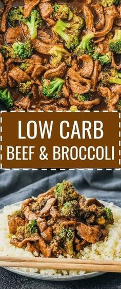 A low carb and keto friendly version of beef and broccoli stir fry. #lowcarb