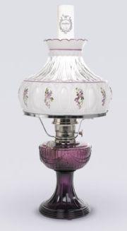 Genuine Aladdin Kerosene Hurricane Mantle Oil Lamps - the mantle lamps give better light if I recall correctly