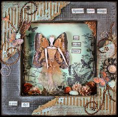 A Painterlady's View: Mixed Media Fairy Shadow Box by ~ Michelle Grant