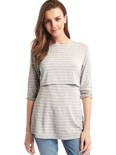 4a2aca669d1fe Maternity Stripe Layer Nursing T-Shirt