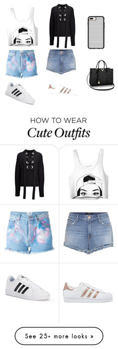"""""""Cute Summer Outfits"""" by lsantana13 on Polyvore featuring Joseph, J Brand, Forte Couture, adidas, adidas Originals and Casetify"""