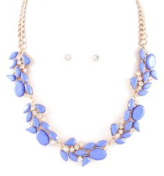Idea inspiration Meagan Necklace in Prussian Blue on Emma Stine Limited