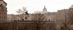 Statue Henri IV sur le pont Neuf et le Panthéon