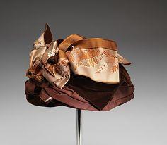 Hat | United States, 1885-1899 | Material: silk | The Metropolitan Museum of Art, New York
