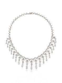 64% OFF CZ by Kenneth Jay Lane Baguette & Marquise Fringe Necklace