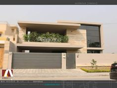 Let us to inspire you an Unique Architecture ideas for your Luxury Home. Discover more architecture projects here. Modern Exterior House Designs, Modern House Facades, Dream House Exterior, Modern House Design, Exterior Design, Two Story House Design, Bungalow House Design, Front Gate Design, House Front Design