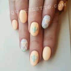 Cactus/ western /Aztec/ Santa fe nails by squareletto Follow us on Instagram @squareletto