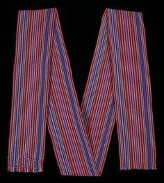 Man's sash (Faja), Kaqchikel Maya ^ Minneapolis Institute of Art Maya Mia, Minneapolis, Woven Fabric, Sash, Cotton, Fashion, Girdles, Moda, Fashion Styles
