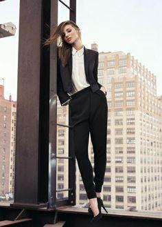 Cropped tuxedo blazer #MirandaKerr #FW13 #Fashion
