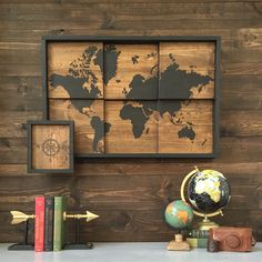 All Things Thrifty| Vinyl World Map using the Silhouette CAMEO®