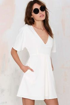 White Pocket Dress