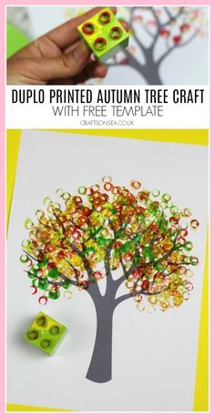 Autumn Tree Painting Ideas for Kids Duplo printed autumn tree crafts for kids Kids Crafts, Fall Crafts For Kids, Tree Crafts, Preschool Crafts, Art For Kids, Diy And Crafts, Craft Projects, Arts And Crafts, Craft Ideas