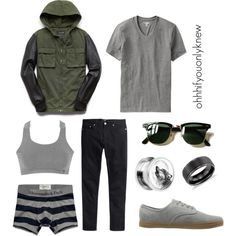 Untitled #226 by ohhhifyouonlyknew on Polyvore featuring Danskin, Vans, Old Navy, 21 Men, H&M, Abercrombie & Fitch, Blue Nile and Ray-Ban
