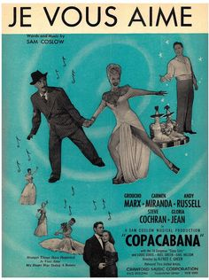 SAM COSLOW - JE VOUS AIME - MUSICAL COPACABANA - 1957 - ORIG. USA MUSIKNOTE