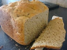 Kim's Gluten Free Bread Simplified Version. I use egg whites, canola oil, ivory teff (I grind it with my grinder), brown rice flour instead of sorghum flour and don't use flax seed.  I mix it in my bread maker and then bake it in a bread pan in my oven.  It turns out great every time!