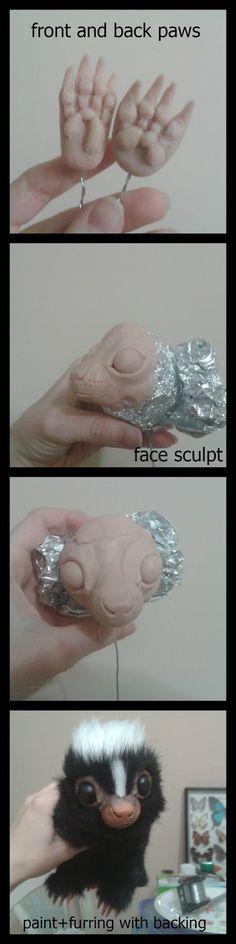 Baby Skunk Sculpt - WIP / Tutorial Creature by RikerCreatures on DeviantArt