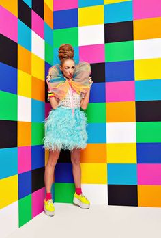 Pop art inspired fashion.