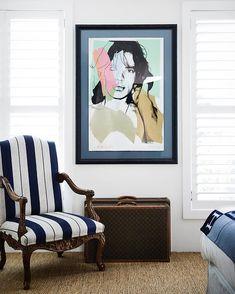 "Tamsin Johnson on Instagram: ""Louis 15th and Warhol ✌🏼 #tamsinjohnsoninteriors"" Brisbane Apartment, Atlanta Apartments, Suitcase Decor, Classic Interior, Unique Furniture, Wingback Chair, Pop Art, Interior Design, Prints"