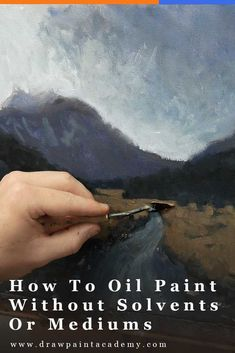 How To Oil Paint Without Using Solvents Or Mediums. One of the most common reservations artists have with oil painting is the use of harsh chemicals like solvents and mediums. Oil Painting Lessons, Oil Painting For Beginners, Oil Painting Techniques, Art Techniques, Painting Tutorials, Painting Videos, Still Life Drawing, Painting Still Life, Oil Painting Abstract