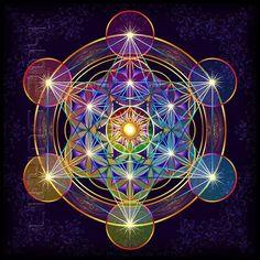 Nice color harmony on sacred geometry