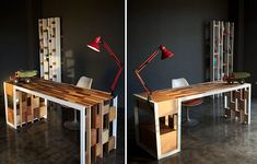 Recycled Wooden Furniture: Office Desk, Sideboard