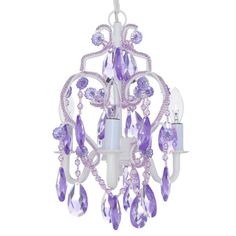 Bring a miraculous appearance to your home by choosing this Tadpoles Lavender Topaz Mini Chandelier. Mini Chandelier, Marilyn Monroe Diamonds, Confetti Wall, Classic Interior, Acrylic Beads, Diamond Are A Girls Best Friend, Topaz, Lavender