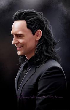 "om Hiddleston ""Loki"" in ""Thor @ Ragnarok"" Fan Art by… Loki Marvel, Loki Thor, Loki Laufeyson, Loki Aesthetic, Loki Art, Avengers Art, Tom Hiddleston Funny, Loki God Of Mischief, Best Villains"