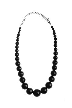 Dressing Your Truth - Type 4 Beaded Classic Necklace in Black