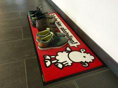 Sheepworld-Fußmatte: Schuhe hier abstellen!