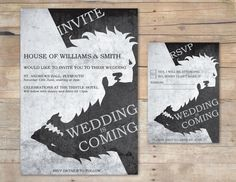 Game of Thrones Wedding Invitation & RSVP… okay, THIS one might be happening…