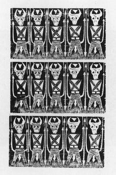 Tamamduá-Tão, Xilogravura de Arlindo Daibert