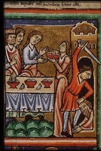 Anonymous Salome ca 1190-1200 Miniature (Picture Bible) 22 x 15 cm Koninklijke Bibliotheek The Hague, The Netherlands
