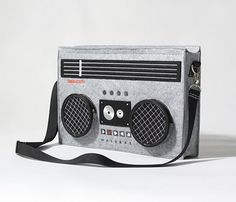 Classic 80's Boombox Bag. I could of used this for my retro 80's Halloween costume last year...