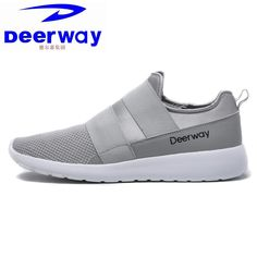 72e4ba12013 Deerway sneakers sport shoes for men and boys gray outdoor mesh breathable  flat cushioning athletic running